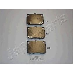 Колодки тормозные дисковые задние, комплект (Japanparts) PP592AF