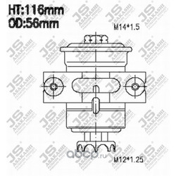 Фильтр топливный (JS Asakashi) FS6202U