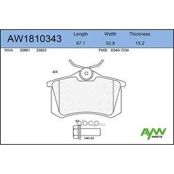 Колодки тормозные задние (AYWIparts) AW1810343