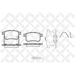 Комплект тормозных колодок (Stellox) 1002000SX