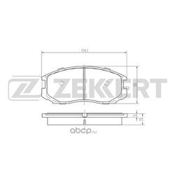 Колодки торм. диск. перед Mitsubishi Colt V 95- Lancer VI VII 92- (Zekkert) BS1237