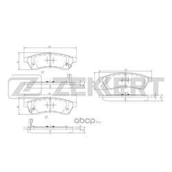Колодки торм.диск. Chevrolet Epica 05- / Tosca 05- RE (Zekkert) BS1314
