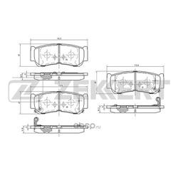 Колодки торм.диск. Hyundai Santa Fe II (CM) 06- RE (Zekkert) BS1810