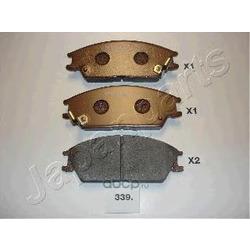 Комплект тормозных колодок, дисковый тормоз (Japanparts) PA339AF
