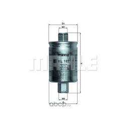 Топливный фильтр (Mahle/Knecht) KL182