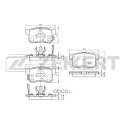 Колодки торм. диск. зад (Zekkert) BS1258