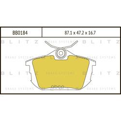 Колодки тормозные дисковые (Blitz) BB0184