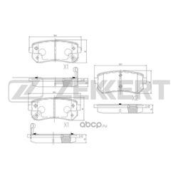Комплект тормозных колодок, дисковый тормоз (Zekkert) BS1759