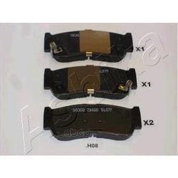 Комплект тормозных колодок, дисковый тормоз (Ashika) 510HH08