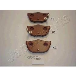 Комплект тормозных колодок, дисковый тормоз (Japanparts) PP123AF