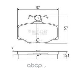 Комплект тормозных колодок, дисковый тормоз (Nipparts) J3611031