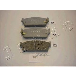 Комплект тормозных колодок, дисковый тормоз (JAPKO) 51124