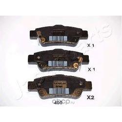 Колодки тормозные дисковые задние, комплект (Japanparts) PP400AF