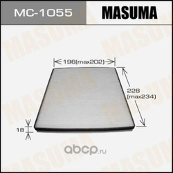 Фильтр салонный (Masuma) MC1055E