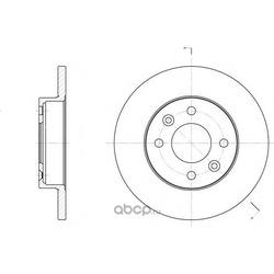 Тормозной диск (Remsa) 606700