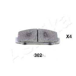 Колодки тормозные дисковые задние, комплект (Ashika) 5103302