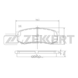 Колодки тормозные (Zekkert) BS2240