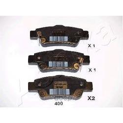 Колодки тормозные дисковые задние, комплект (Ashika) 5104400