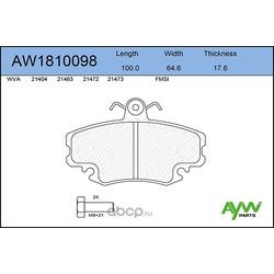 Колодки тормозные передние (AYWIparts) AW1810098