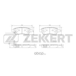 Колодки торм. диск. зад Nissan Navara (D40M) 05- Pathfinder (R51M) 05- (Zekkert) BS2333