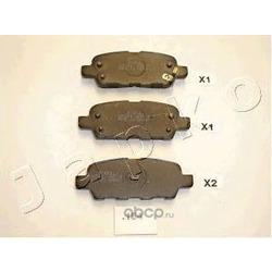 Комплект тормозных колодок, дисковый тормоз (JAPKO) 51154