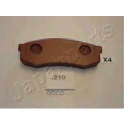 Комплект тормозных колодок, дисковый тормоз (Japanparts) PP210AF