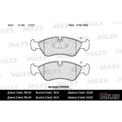 Колодки тормозные OPEL VECTRA A/B/DAEWOO ESPERO 91-99 передние (Miles) E100074
