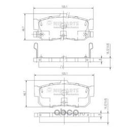 Комплект тормозных колодок, дисковый тормоз (Nipparts) J3611034