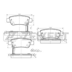 Колодки торм. диск. зад Honda CR-V III 07- (Zekkert) BS2836