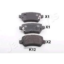 Комплект тормозных колодок, дисковый тормоз (Japanparts) PPK12AF
