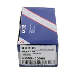 КОЛОДКИ ТОРМОЗНЫЕ ПЕРЕДНИЕ (Kross) KG0500069