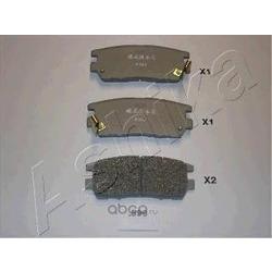 Комплект тормозных колодок, дисковый тормоз (Ashika) 5105599