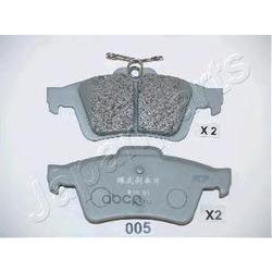 Колодки тормозные дисковые задние, комплект (Japanparts) PP005AF