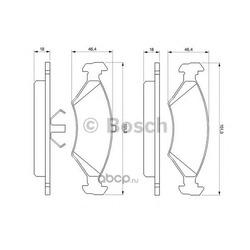 Колодки тормозные дисковые передние Bosch Ford Sierra 80-93 (Bosch) 0986466402