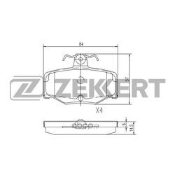 Комплект тормозных колодок, дисковый тормоз (Zekkert) BS2272