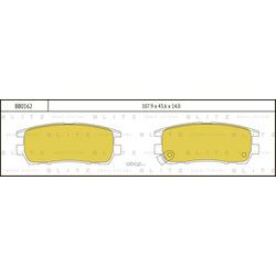 Задние тормозные колодки (MITSUBISHI) MZ690166