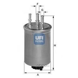 Топливный фильтр (UFI) 2444500
