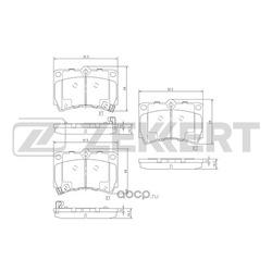Колодки торм.диск. Kia Rio I (DC) 00-/ Mazda 323 (BA) 94- 323 (BG) 89- Demio (DW) 96- FR (Zekkert) BS2030