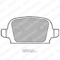 Комплект тормозных колодок, дисковый тормоз (Delphi) LP1677