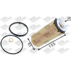 Фильтр масляный элемент (JS Asakashi) OE0090