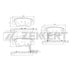 Комплект тормозных колодок, дисковый тормоз (Zekkert) BS1788
