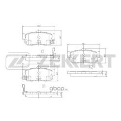 Колодки торм. диск. зад Nissan Almera (N15 N16E) 95- Maxima (A32 A33) 95- Primera (P11) 96- (Zekkert) BS1104