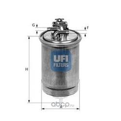 Топливный фильтр (UFI) 2443000