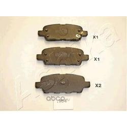 Комплект тормозных колодок, дисковый тормоз (Ashika) 5101154