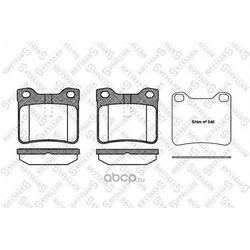 Комплект тормозных колодок (Stellox) 332010BSX
