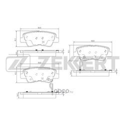 Комплект тормозных колодок, дисковый тормоз (Zekkert) BS1781