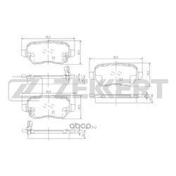 Колодки торм. диск. зад Kia Ceed II 12- Soul 09- Opel Astra G H 00- Opel Zafira A B 99- (Zekkert) BS1761