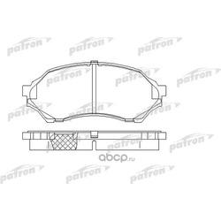 Колодки тормозные дисковые передн MAZDA: 323 F VI 98-04, 323 S VI 98-04 (PATRON) PBP1455