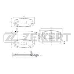 Колодки торм.диск. Hyundai i10 07-/ Kia Picanto I (BA) 04- FR (Zekkert) BS1790
