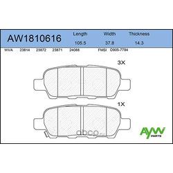 Колодки тормозные задние (AYWIparts) AW1810616
